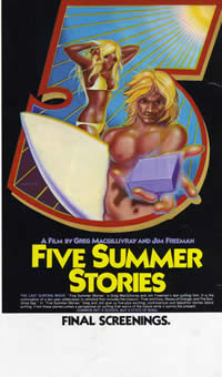 Five Summer Stories Classic Surf Movie Poster.