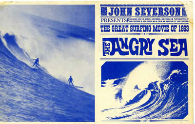 John Severson The Angry Sea Surf Movie.  The great surfing movie of 1963 postcard.