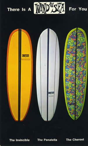 Wind and Sea Surfboards Postcard.