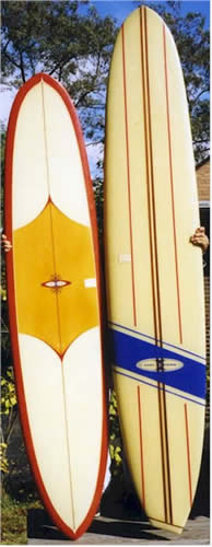 Carl Exstrom Surfboards Asymetrical Tail Classic Longboard Surfboards