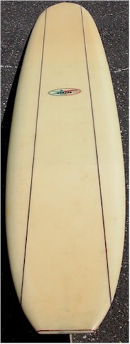 1960's Hansen Surfboard with Dual Stringers Surf Memorabilia Surfing Museum