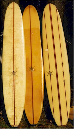 Wardy Surfboards in the LI Surfing Museum collection of Charlie Bunger
